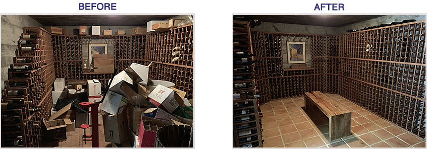 Wine Cave Before/After